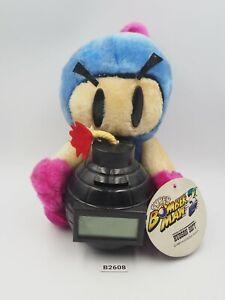 "Bomberman B2608 Blue Piggy Bank Coin Hudson 1995 Plush 7"" TAG Toy Doll Japan"