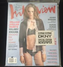 INTERVIEW MAGAZINE HILARY SWANK MARCH 2005 FACTORY SEALED