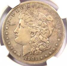 1901 PROOF Morgan Silver Dollar $1 - NGC Proof AU Details - Rare Proof Coin!