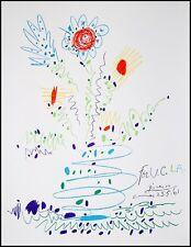 Picasso Original-Grafik / Lithografie Flowers for UCLA Mourlot 1961