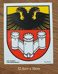 Sticker Aufkleber Wappen Duisburg NRW 80er Jahre Kofferaufkleber Reise Stadt