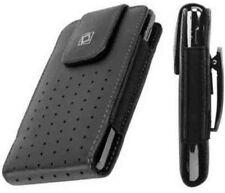 Leather Vertical Black Cover Case Pouch Belt Clip for Motorola Phones