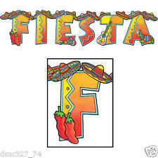 FIESTA Cinco de Mayo Party Decoration FIESTA JOINTED STREAMER BANNER 35in