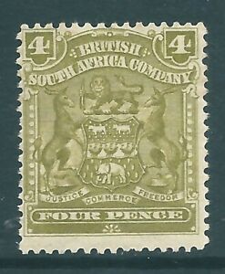 BRITISH SOUTH AFRICA COMPANY 1898 mint 4d SG82