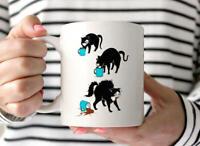 Cute Cat Lover Gift Black Cat Mug Cat Coffee Mug Funny Cat Gift Cute Mug Unique