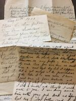 Vintage Hand Written Letters 1921 & 1931 Old Paper Ephemera E94