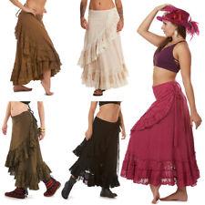 Long Jute Boho Skirt, Eco Natural Fibres Earthy Hippy Wraparound Flamenco Skirt