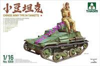 TAKOM 1009 1/16 Scale 1/16 Chinese Armu Type 94 Tankette + figures 2019 NEW