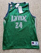 New Minnesota Lynx WNBA Champion Jersey 1999 Kristin Folkl #24 Green Gray NOS M