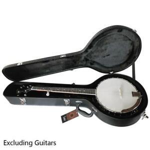 Hardshell High Quality Professional 5-string Banjos Black Leather Case Black