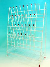 Lab  Drying  Draining Rack 55 Pegs with Drain Pan New