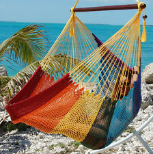 Rainbow Polyester Hanging Hammock Swing from Outer Bans, Nc