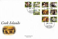Isole Cook 2014 FDC Highland Paradise 9V Set Copertura cultura nativa PEU tupana