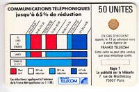 VARIETE TELECARTE CORDON BLANC .. 50U Ko58 V° 50% BLEU BLONCE PE.14075  C.?€