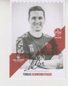 Autogrammkarte Tobias Schweinsteiger 1. FC Nürnberg Bayern München 2020/21 20/21