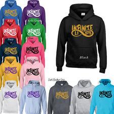 INFINITE LISTS Army Logo Kid's Boys Girls Hoodie Top T-Shirt 3-13 Years