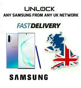 UNLOCK CODE SAMSUNG GALAXY NOTE 10 10+ 9 8 S9 S20 Plus S9 PLUS O2 EE VODAFONE UK