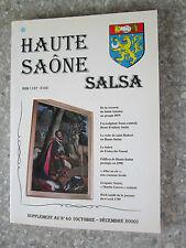 Haute Saone Salsa. Supplément annuel au N° 40 (Octobre-Décembre 2000).