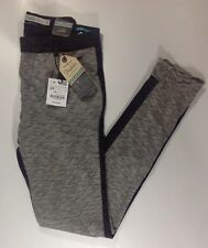 NEW ZARA Black Jeans Size 2 Grey Sweat Pant Front Color Denim Back Leg Pants