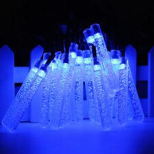 3.5M 20 LED Solar Lamp Meteor Shower Tube Fairy Light String Outdoor Xmas Decor