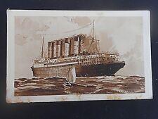 Cunard * Quadruple Screw Turbine R.M.S.MAURETANIA & LUSITANIA * RosenvingeP/card