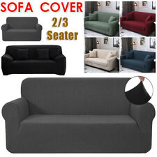 2/3 Seater Sofa Covers Easy Fit Stretch Protector Soft Couch Cover Thick Plush
