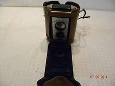 Vntage Brownie Reflex Synchro Camera in Leather Case