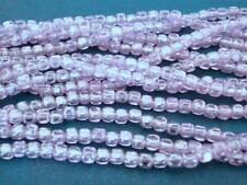 50 4x4mm Czech Glass Cube Beads: Luster -Alexandrite