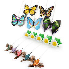Cat Funny Pet Kitten Toys Electric Rotating Butterfly Rod Cat Teaser Play Toy