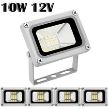 5X 10W 12V LED Flood Light Cool White Outdoor Garden Yard Spot Lamp Waterproof