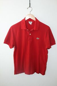 Men's Lacoste Short Sleeve Polo / Red / Size 4