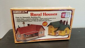 N Scale Life-Like The Finest In Scenery Train Layouts Rural Houses New Sealed