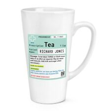Personalised Name Tea Prescription 17oz Large Latte Mug Cup Work Colleague Funny