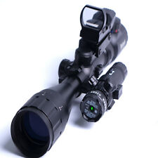 Tactical 4-16X40 Hunting  Rifle Scope with Holographic Sight Lens & Green Laser