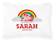 Personalised Pillowcase Kids Unicorn Printed Gift Custom Made Print 401