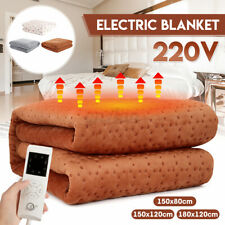220V Electric Heated Blanket Underblanket - Heat Control & Overheat  NEW