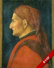 1400'S PORTRIAT OF A MAN RENAISSANCE ARTIST PAINTING ART REAL CANVAS PRINT