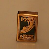 Century of Progress 1933 Chicago Worlds Fair MATCH SAFE BOX copper colored
