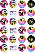 24 Street Dance Hip Hop Freestyle Cupcake Cake Toppers Edible Rice Wafer Paper