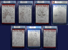 Civil War #1-7 TURNER SKETCH 1:75 VARIANT (2006) NM PGX 9.8 - 9.4 (not CGC) SIG