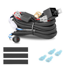Wiring Harness Kit 40A 12V Switch Power On/Off Relay Fuse For LED Fog Light Bar