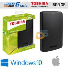 HARD DISK ESTERNO 2,5 500 GB TOSHIBA USB 3.0/2.0 CANVIO BASICS AUTOALIMENTATO