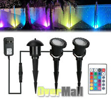 LED 5W Landscape Lights Color Changing Waterproof Garden Spike Stand 2 Pack New