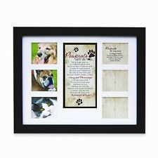 "Pet Memorial Collage Frame for Dog or Cat with Sympathy ""Pawprints Left by Yo..."