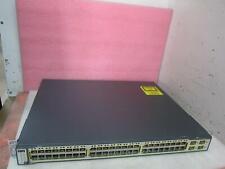 Cisco Catalyst WS-C3750-48PS-S 48-Port 10/100 PoE Net Managed Switch+