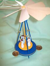 Christmas Germany German Wood Angel Candle Carousel Windmill Erzgebirge Style