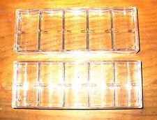 5 - Poker Chip Casino Chip Trays - Racks - New - Holds 100 Chips Each