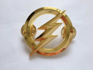 US The Flash Metal Badges Gold Personality Badge-US126