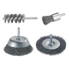 WOLFCRAFT KIT SPAZZOLE METALLICHE SET 4 SPAZZOLE ART. 2133000