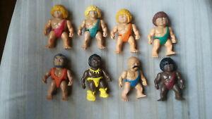VINTAGE 1987 Playskool DEFINITELY DINOSAURS 8 Different Cavemen Figure Lot